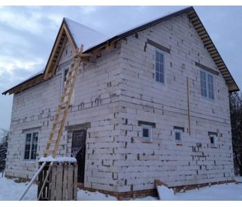Строительство дома под черный ключ 160м2 в Калининграде улица Лейтенанта Катина
