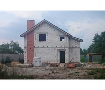 Строительство дома под черный ключ 128м2 в Калининграде п.Муромское