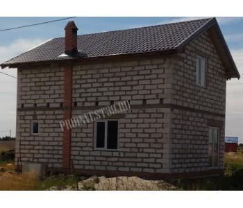 Строительство дома под черный ключ 96 м2 в Калининграде СНТ Рублевочка