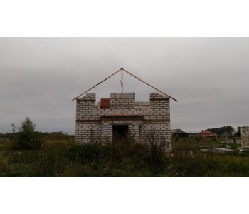 Строительство дома под черный ключ 160 м2 в Калининграде п.Малиновка