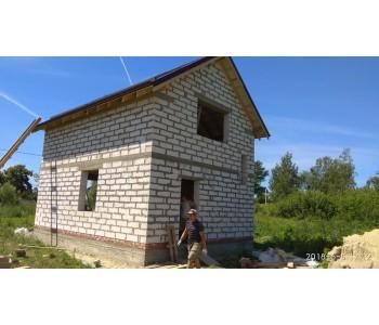 Строительство дома под черный ключ 96 м2 в Калининграде п.Отважное